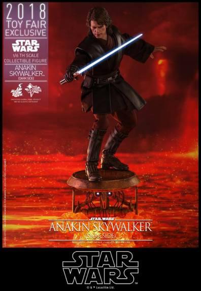 hot toys dark side anakin skywalker figure - on platform