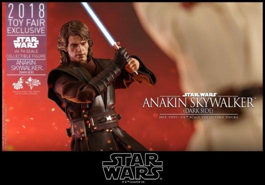 hot toys dark side anakin skywalker figure -ready for face off