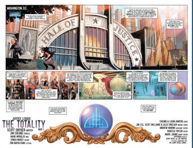 justice league #1 pages 2-3