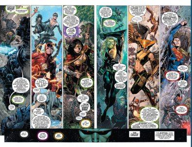 justice league #1 pages 4-5