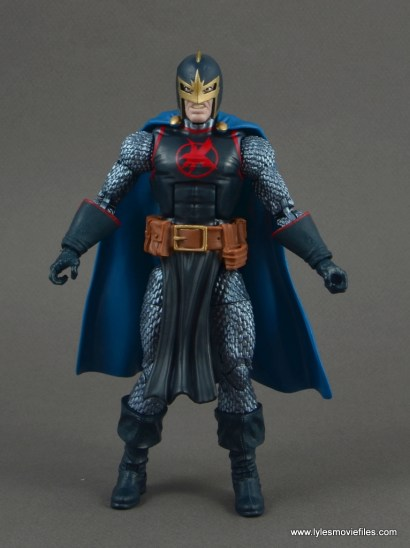 marvel legends black knight figure review -front