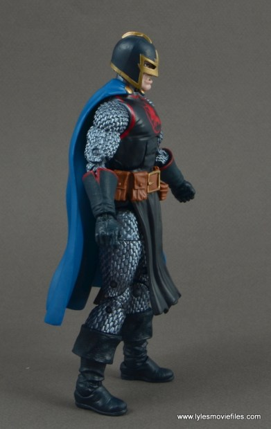 marvel legends black knight figure review -rear