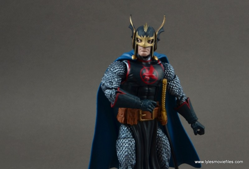 marvel legends black knight figure review -wide shot