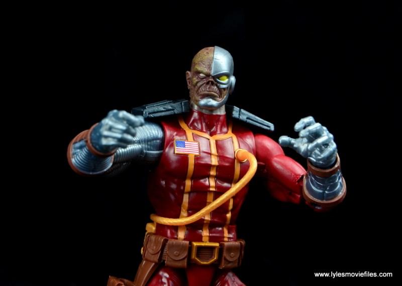 marvel legends deathlok figure review - hands up