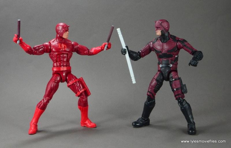 marvel legends netflix daredevil figure review -face off with comic daredevil