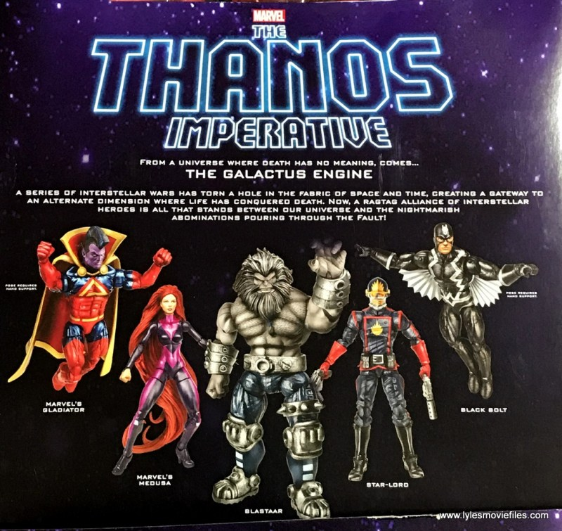 marvel legends the thanos imperative sdcc set review - outer package