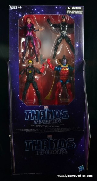 marvel legends the thanos imperative sdcc set review - package interior