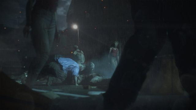 resident evil 2 zombie horde