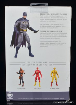 dc essentials batman figure review -package rear