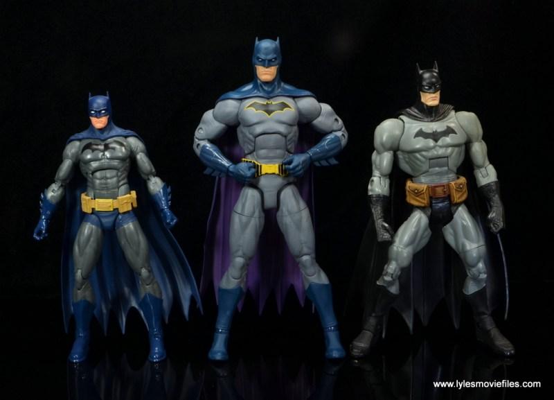 dc essentials batman figure review -scale with dc icons and dc classics batman