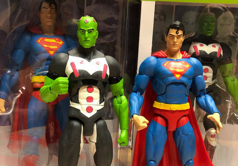 dc essentials braniac and superman figures loose - Copy