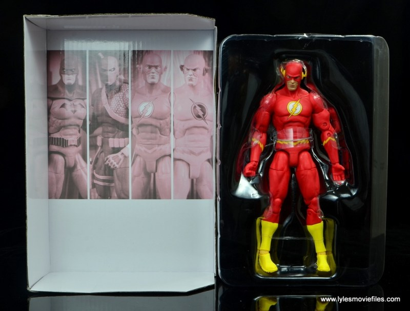 dc essentials the flash figure review - figure in tray