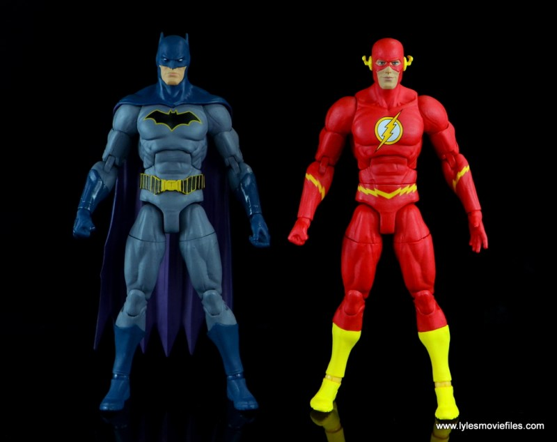 dc essentials the flash figure review -scale with batman