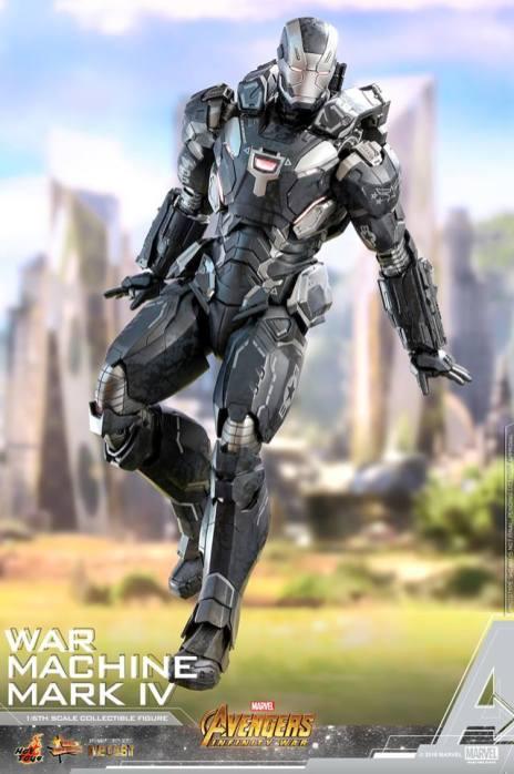 hot toys avengers infinity war war machine figure -coming down