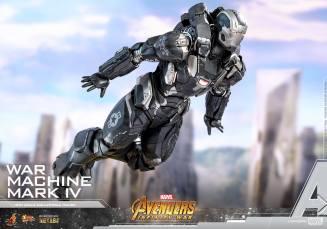 hot toys avengers infinity war war machine figure -flying away