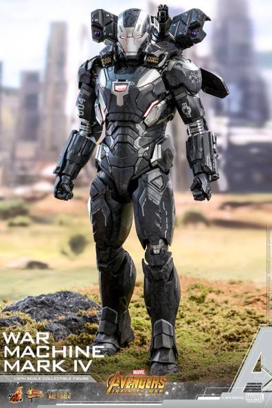 hot toys avengers infinity war war machine figure -outrider diorama