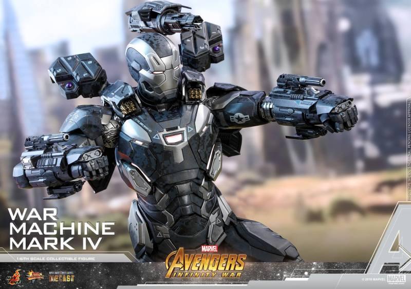 hot toys avengers infinity war war machine figure - wide shot