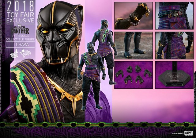 hot toys black panther t'chaka figure -collage