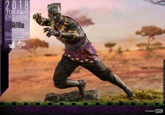 hot toys black panther t'chaka figure -springing into battle