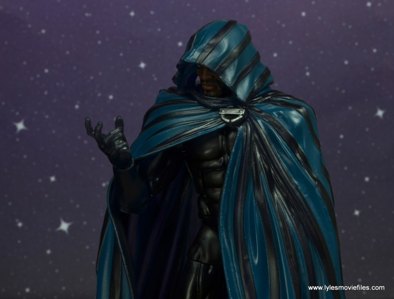 marvel legends cloak and dagger figure review - cloak in deep thought