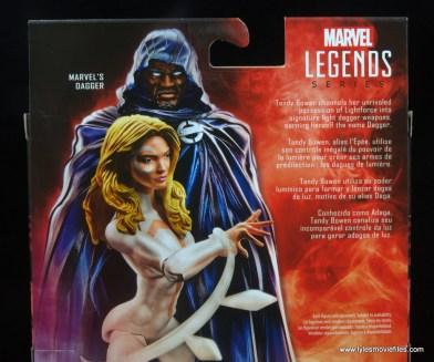 marvel legends cloak and dagger figure review - dagger bio
