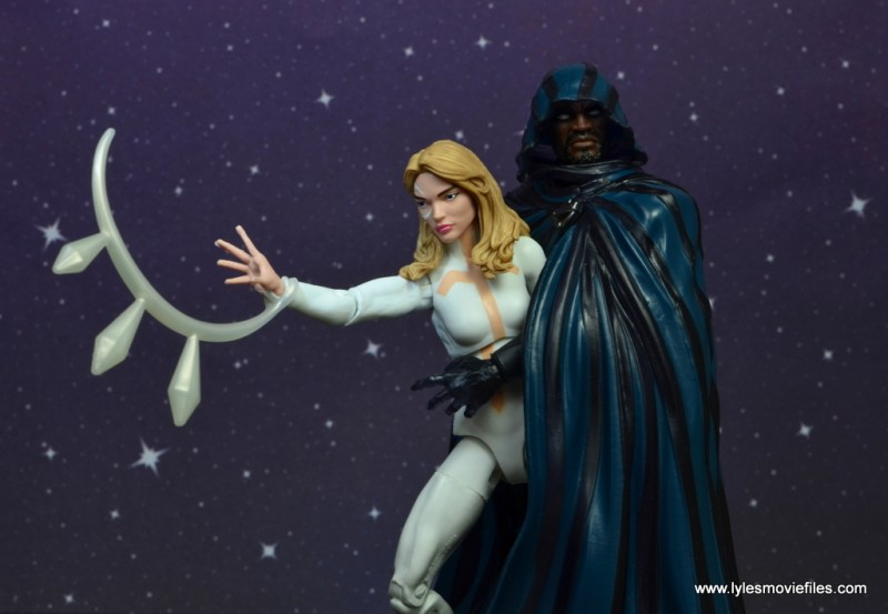 marvel legends cloak and dagger figure review - dagger coming out of cloak