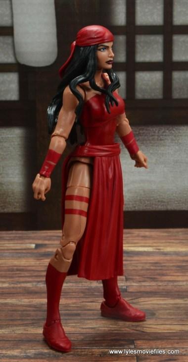 marvel legends elektra figure review -right side