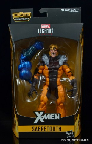 marvel legends sabretooth figure review - front package