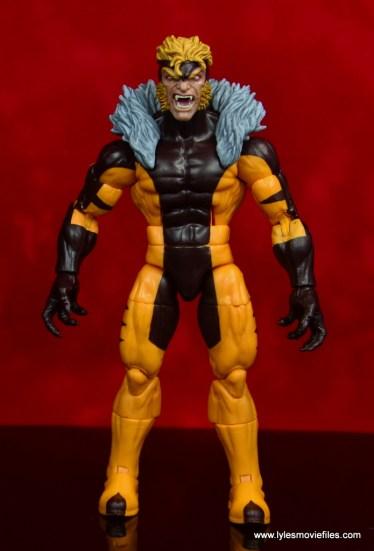 marvel legends sabretooth figure review - front
