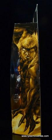 marvel legends sabretooth figure review - package side