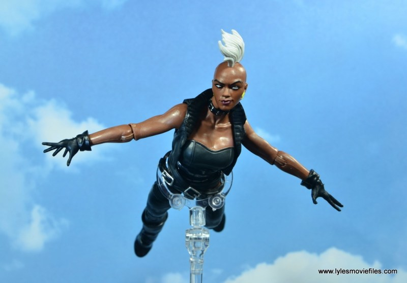 marvel legends storm figure review - gliding