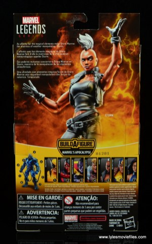 marvel legends storm figure review - package rear