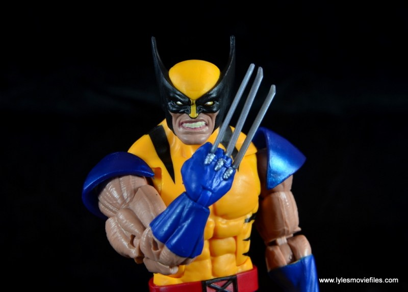 marvel legends wolverine figure review - claw hand up