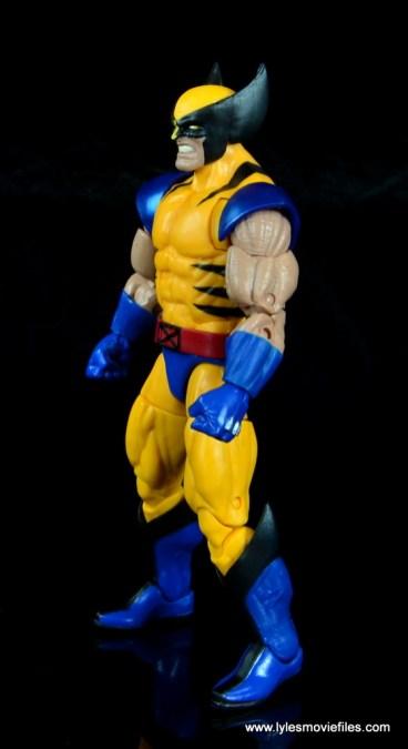 marvel legends wolverine figure review - left side