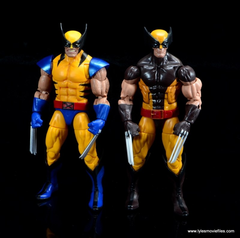 marvel legends wolverine figure review - with orange and brown attire