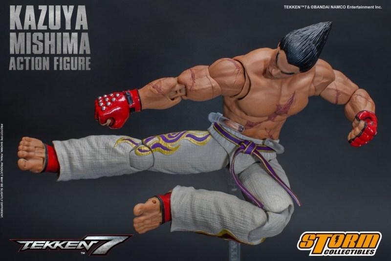 storm collectibles kazuya mishima figure - jumping kick