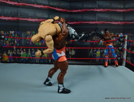 wwe elite 53 big e figure review - belly to belly suplex