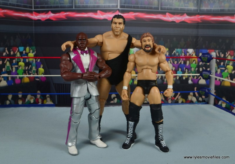 wwe elite virgil figure review -with andre the giant and ted dibiase