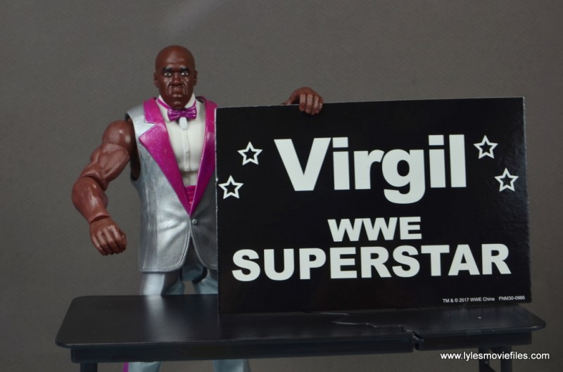wwe elite virgil figure review -with convention sign