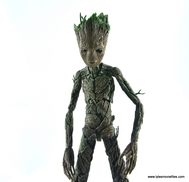 hot toys avengers infinity war groot and rocket review - alternate face plate
