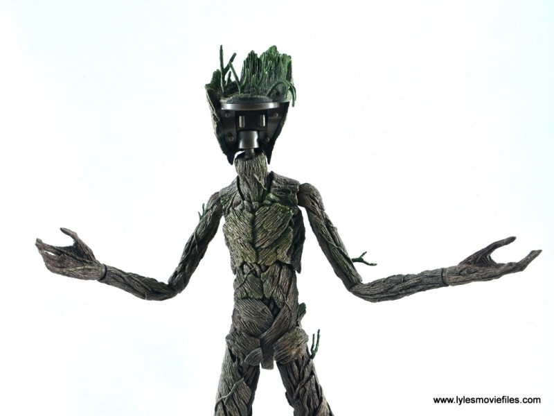 hot toys avengers infinity war groot and rocket review - groot no face plate