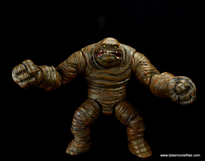 dc multiverse collect and connect clayface figure review -arms out