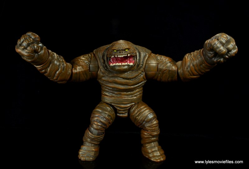 dc multiverse collect and connect clayface figure review -arms wide
