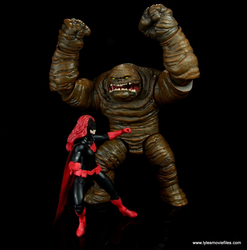dc multiverse collect and connect clayface figure review - fighting batwoman