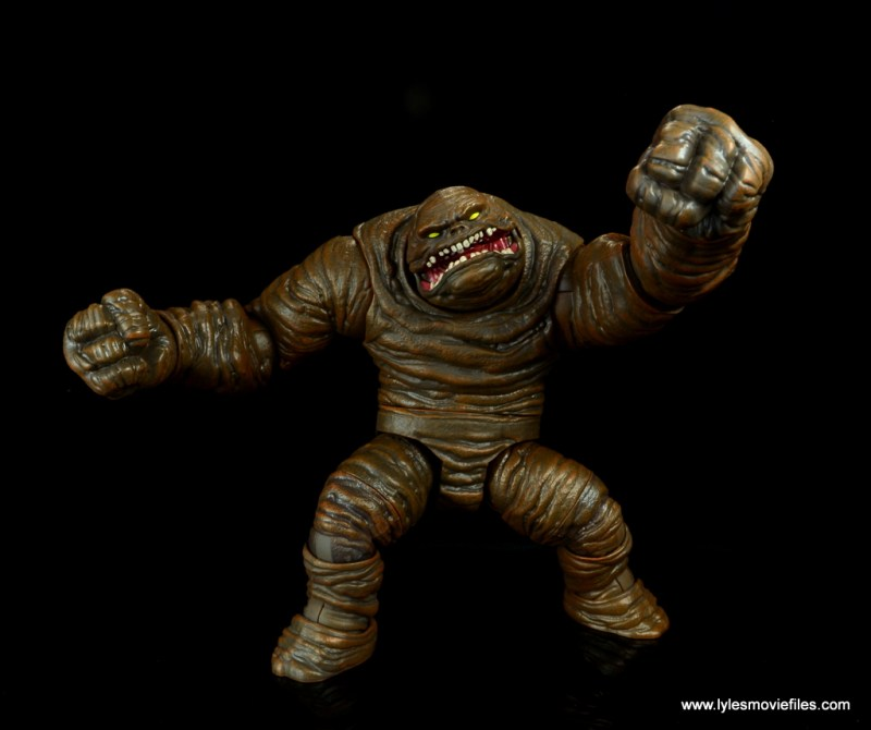 dc multiverse collect and connect clayface figure review -fist out