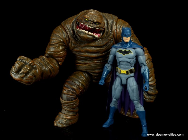 dc multiverse collect and connect clayface figure review -with dc essentials batman