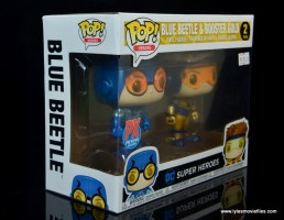 funko pop blue beetle and booster gold figure review -package right side