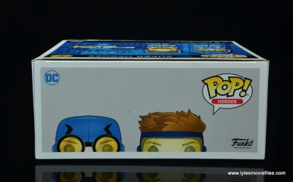 funko pop blue beetle and booster gold figure review -package top