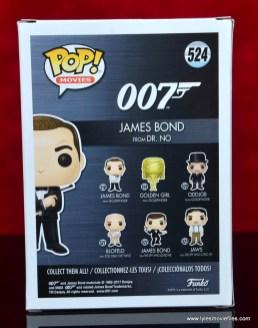 funko pop james bond figure review - package rear
