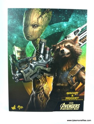 hot toys avengers infinity war groot and rocket review - package front